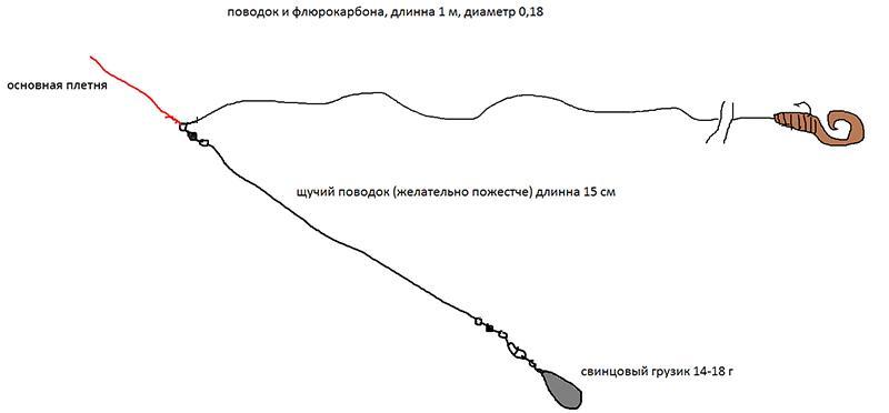 Отводной поводок на судака фото 1