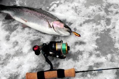 Зимняя удочка на форель – важный элемент экипировки рыболова-подледника